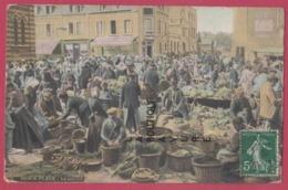 62 - BERCK PLAGE---Le Marché---animé---Colorisée - Berck