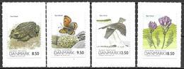 Denmark Danmark Dänemark 2010 Nature Natur Fyns Hoved Michel No. 1556-59 Mint MNH Neuf Postfrisch Self Adhesive - Unused Stamps