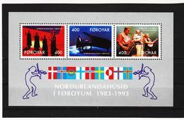 TNT208 DÄNEMARK - FÄRÖER 1993  Michl BLOCK 6 ** Postfrisch SIEHE ABBILDUNG - Färöer Inseln