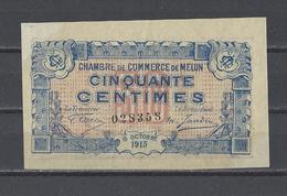 Chambre De Commerce De MELUN  Billet De 50c - Chambre De Commerce