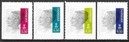Denmark Danmark Dänemark 2010 Queen Margrethe II Michel No. 1561-64 Mint MNH Neuf Postfrisch ** Self Adhesive - Unused Stamps