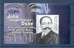 3.- SOUTH AFRICA 2012. MINIATURE SHEET. JOHN LANGALIBALELE DUBE. FIRST PRESIDENT OF SOUTH AFRICAN NATIONAL CONGR - South Africa (1961-...)
