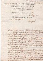 Prefilatelica  1814 Da Camerino Per Bologna - 1. ...-1850 Prefilatelia