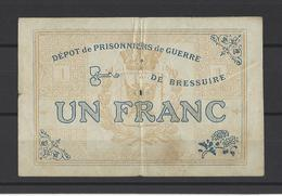 Bon Nécessité  Dépot De Prisonniers De Guerre De BRESSUIRE  Bon De 1.00€ - Bons & Nécessité