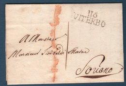 Prefilatelica  1812 Da Vetralla ( Via Viterbo )  Per Soriano - Italy