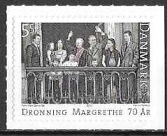 Denmark Danmark Dänemark 2010 Birthday Queen Margrethe II Michel No. 1568 Mint MNH Neuf Postfrisch ** Self Adhesive - Ongebruikt