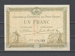 Chambre De Commerce Des DEUX SEVRES  Billet De 1.00F - Chambre De Commerce