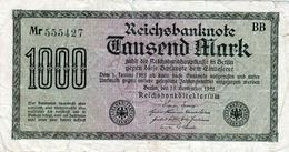 Billet Allemand De 1000 Mark Le 15-9-1922 - [ 3] 1918-1933 : Weimar Republic