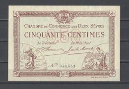 Chambre De Commerce Des DEUX SEVRES  Billet De 50c - Chamber Of Commerce