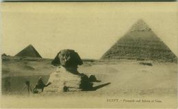 EGYPT - CAIRO - PYRAMIDS AND SPHINX OF GIZA - EDIT L.C. -  1910s (BG3494) - Cairo