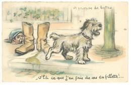 Germaine BOURET - A Propos De Bottes - Cachet Militaire : Rgt D' Artillerie Lourde Sur Voie Ferrée (538 ASO) - Bouret, Germaine