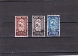 Egipto Nº 203 Al 205 Con Manchas En La Goma - Unused Stamps