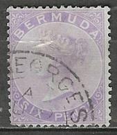 1874 Queen Victoria, 6 Pence, Used - Bermuda