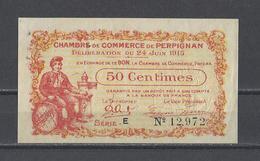 Chambre De Commerce De PERPIGNAN  Billet De 50c - Cámara De Comercio