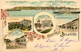 Gruss Aus Belgrade - 1899 !!! - Beograd Serbie - TP + Cachets + Oblitérations !! - Serbia