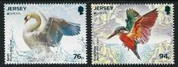 "JERSEY - EUROPA 2019 - NATIONAL BIRDS & SYMBOLISH.- ""AVES - BIRDS - VÖGEL - OISEAUX""-  SERIE De 2 V. Logo EUROPA - 2019"