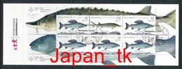 GERMANY Mi.Nr. 3169-3171  Jugend- Süßwasserfische - Markenheftchen 100 - ESST Bonn - Used - Gebraucht
