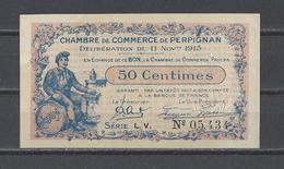 Chambre De Commerce De PERPIGNAN  Billet De 50c - Chambre De Commerce