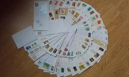LOT DE 58 TIMBRES FRANCAIS SUR ENVELOPPES - Stamps