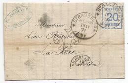 - ALSACE-LORRAINE - STRASBOURG - Càd Allemand S/TP Alsace-Lorraine N°6 - 1871 - Alsace-Lorraine