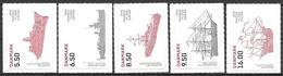Denmark Danmark Dänemark 2010 Navy Marine Michel No. 1584-88A Mint MNH Neuf Postfrisch ** Self Adhesive - Unused Stamps