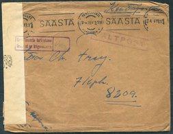 1943 Finland Kenttapostia Censor Faltpost Cover + Letter - Finland