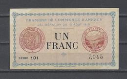 Chambre De Commerce D'ANNECY  Billet De 1.00F - Chambre De Commerce