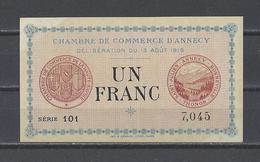 Chambre De Commerce D'ANNECY  Billet De 1.00F - Chamber Of Commerce