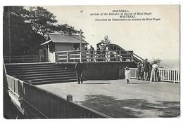 MONTREAL CANADA L'ARRIVEE DU FUNICULAIRE AU SOMMET DU MONT ROYAL 1908 CPA 2 SCANS - Montreal