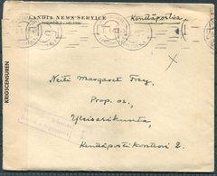 1940 Finland Kenttapostia Censor Wasa Finlandia News Service Cover + Letter. Birger Grahme - Finland