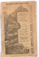 Dépliant Touristique TERRITET GLION CAUX NAYE Des Années 1920 - Dépliants Touristiques