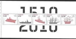 Denmark Danmark Dänemark 2010 Navy Marine Michel No. 1589-93 Aus MH From Booklet Mint MNH Neuf Postfrisch ** - Unused Stamps