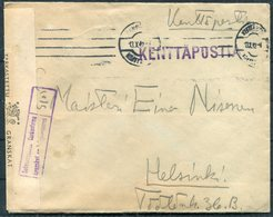 1942 Finland Kenttapostia Censor Cover + Letter - Finland