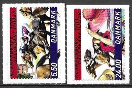 Denmark Danmark Dänemark 2010 Galop Race Track Klampenborg Michel No. 1594-95 Mint MNH Neuf Postfrisch ** Self Adhesive - Unused Stamps