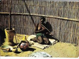BECHUANALAND (femme Jouant Arc Musical) Afrique Australe Plasmarine Pub Biomarine, Envoie 1963, Avec Timbres - Botswana