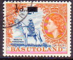 1959 BASUTOLAND SG 54 ½d On 2d Used - 1933-1964 Crown Colony