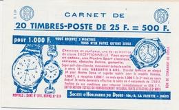** CARNETS ANCIENS - ** - N°1263 - Série .03.63 - 0,25 Decaris - Pub AG VIE - TB - Advertising