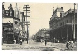 MONTREAL QUEBEC RUE ST JACQUES ET GARE DU GRAND TRONC 1908 CPA 2 SCANS - Montreal