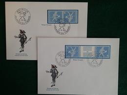 Suisse - 1965 - K45 Et S63 - 2 Enveloppes Journée Du Timbre 5.12.65 - Tête-Bêche