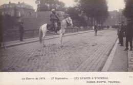 Photo Carte Les Spahis à Tournai Guerre De 1914 Circulée En 1914 - Tournai
