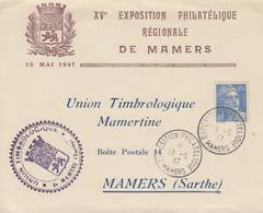 Enveloppe   FRANCE  Exposition  Philatélique   MAMERS   1947 - Philatelic Exhibitions