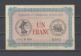 Chambre De Commerce De BELFORT  Billet De 1.00F - Chambre De Commerce
