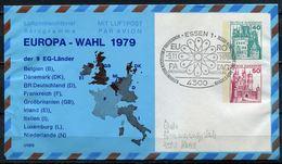 "Germany 1978 Privat Aerogramm EUROPA WAHL Mit SST""Essen 1-EUROPATAG"" "" 1 Aerogramm Used - European Ideas"