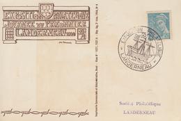 Carte   FRANCE  Exposition  Philatélique   LANDERNAU   1944 - Philatelic Exhibitions