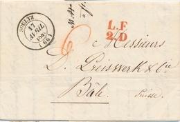 L M. POSTALES 19ème Siècle - HAUT-RHIN (Dépt 66) - L - Lot 10 Plis Dif. Dt Benfeld, Strasbourg, Huningue (18°), Càd Wess - Postmark Collection (Covers)