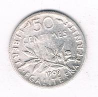 50 CENTIMES 1909 FRANKRIJK /4358/ - France