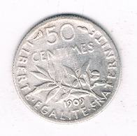 50 CENTIMES 1909 FRANKRIJK /4358/ - Frankreich