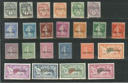 * TIMBRES POSTE - * - N°47/153 - Dt 2 Val Obl. - S/Feuilles - Ens. TB - French Andorra