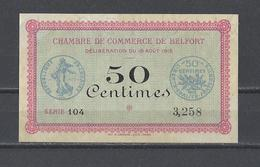 Chambre De Commerce De BELFORT  Billet De 50c - Chambre De Commerce