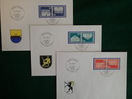 Suisse - 1970 - K50 - K51 - K52 - 3 Enveloppes FDC Musée PTT Bern 18.6.70 - Tête-Bêche